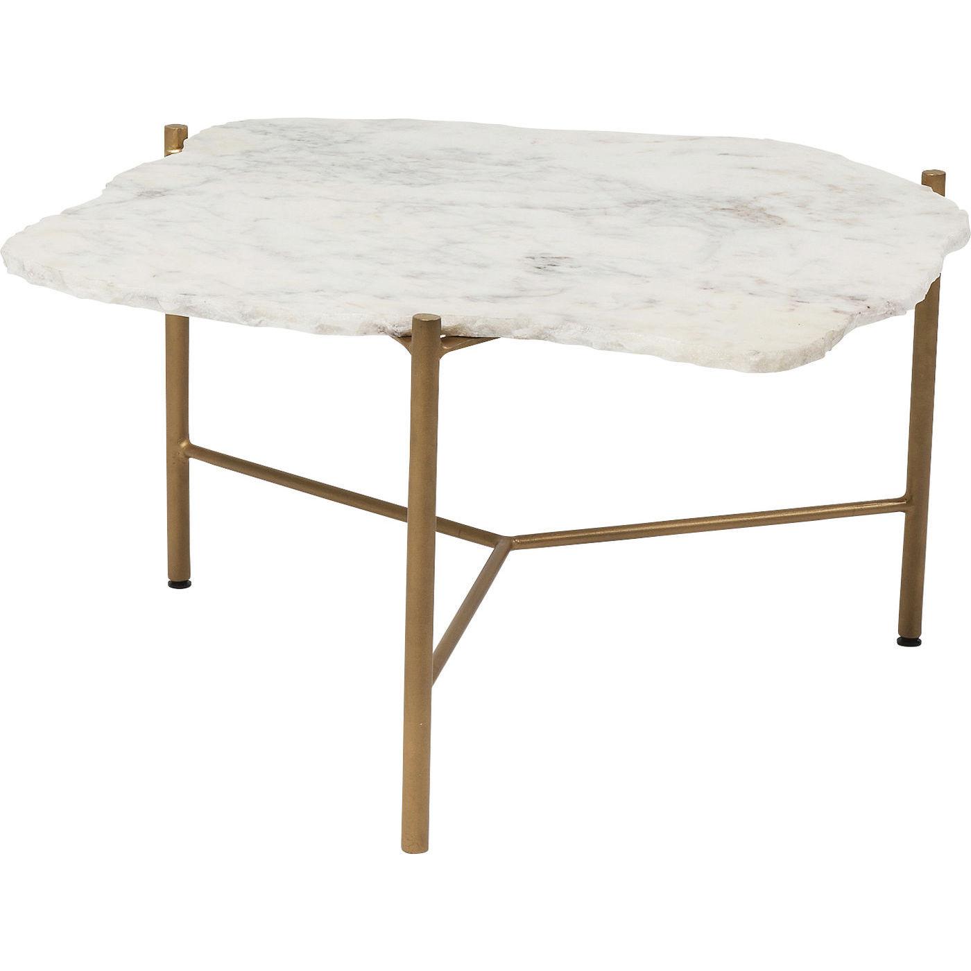 kare design – Kare design piedra white sofabord - hvidt marmor/guld stål på boboonline.dk
