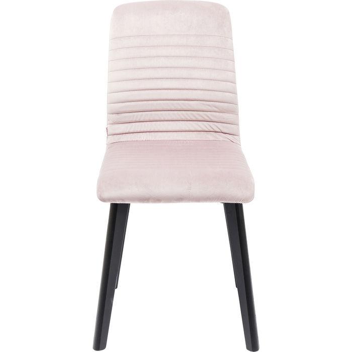 kare design – Kare design lara black velvet mauve spisebordsstol - lyserødt stof/sort bøg fra boboonline.dk
