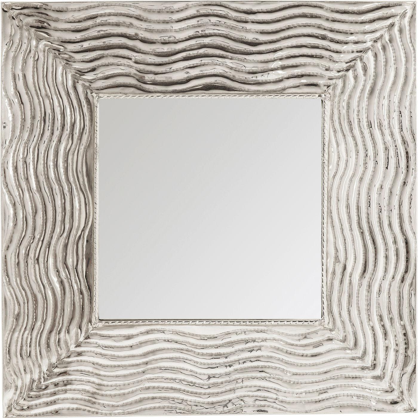 kare design – Kare design pluto xxl vægspejl - spejlglas/sølv aluminium, kvadratisk (108x108) fra boboonline.dk