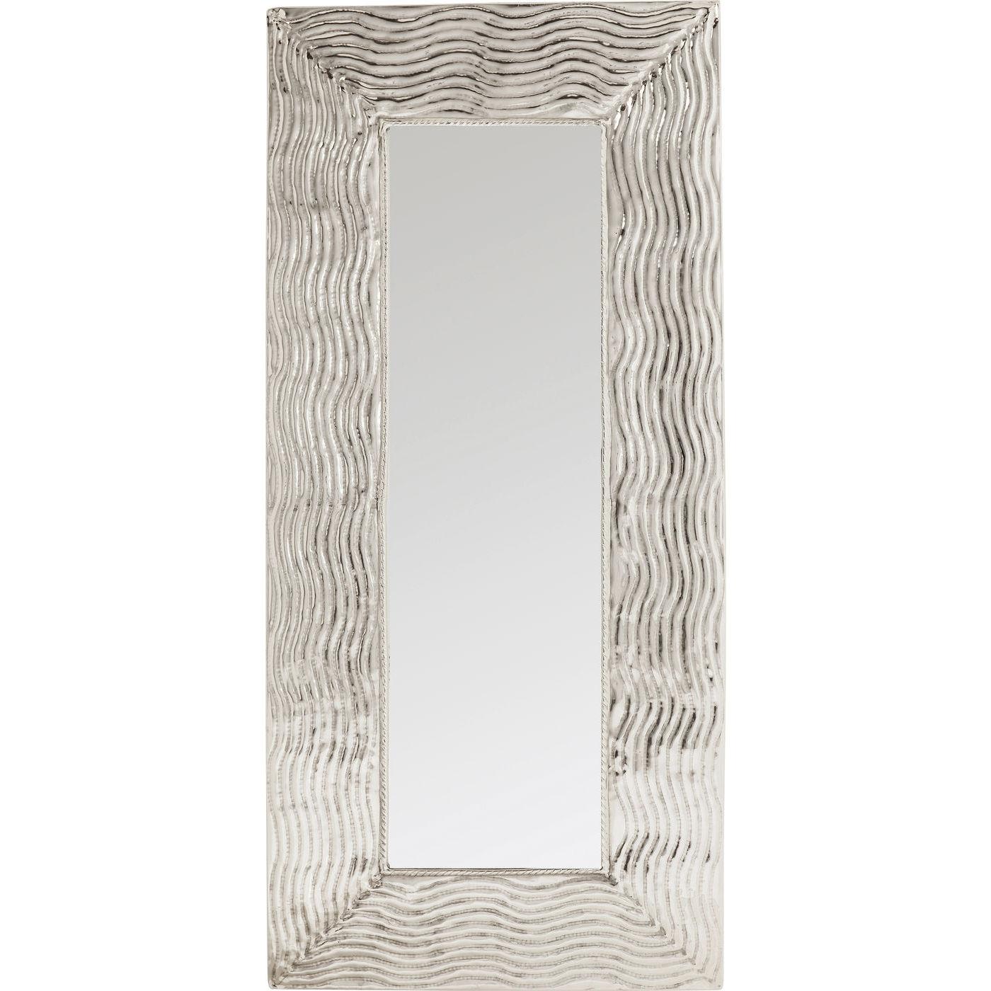 KARE DESIGN Pluto XXL vægspejl - spejlglas/sølv aluminium, håndlavet (200x90)
