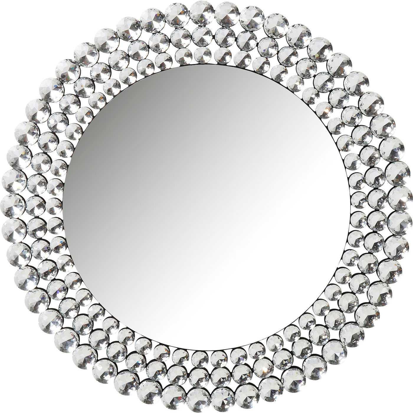 Kare design diamond fever vægspejl - spejlglas, rundt (ø100) fra kare design på boboonline.dk