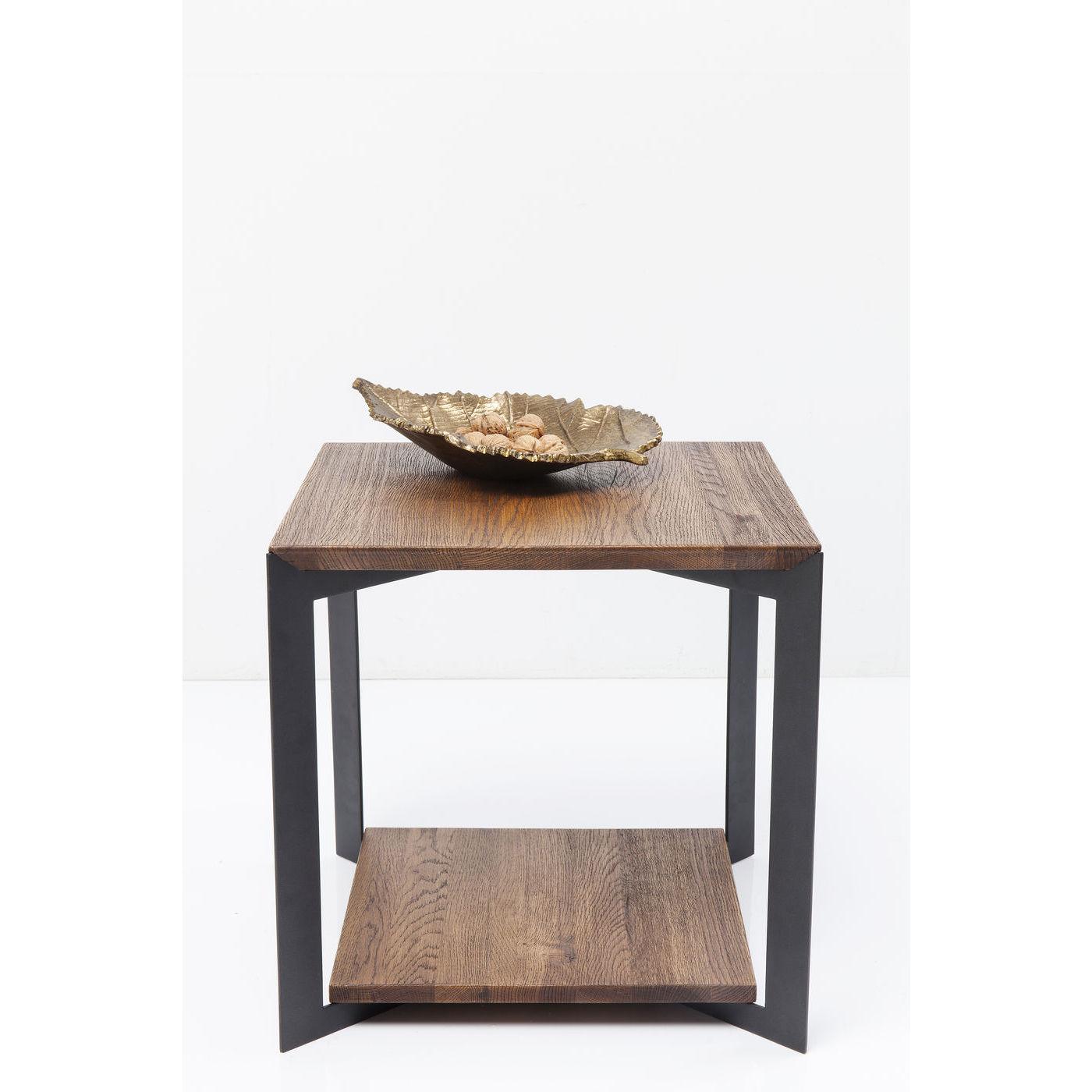 kare design Kare design phoenix sidebord - natur eg og stål, m. 1 hylde, kvadratisk (50x50) fra boboonline.dk