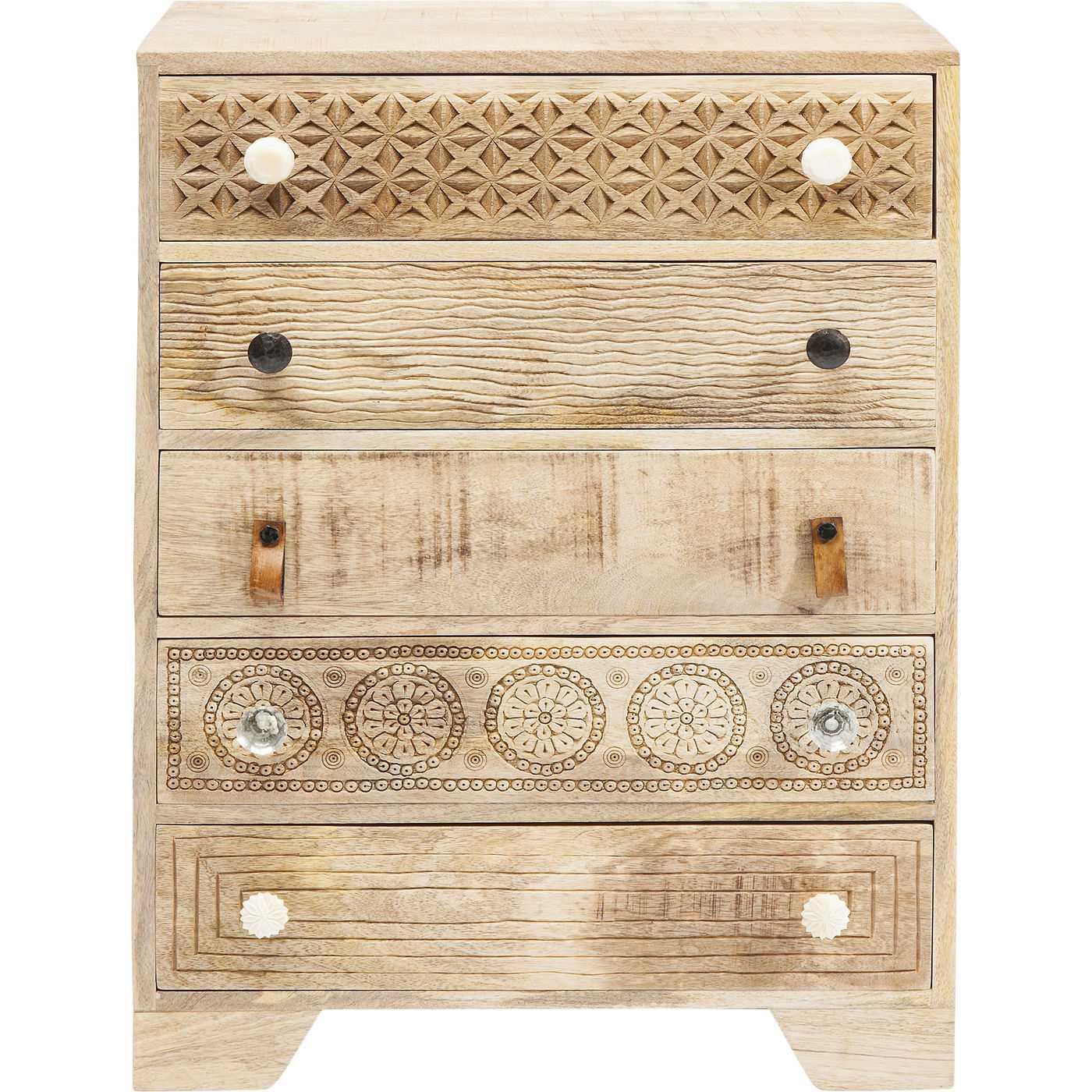 kare design puro kommode natur mangotr m 5 skuffer. Black Bedroom Furniture Sets. Home Design Ideas