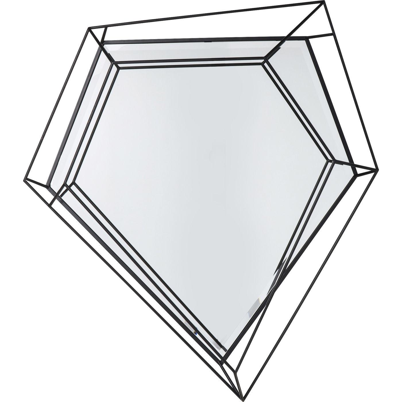 kare design – Kare design wire diamond schwarz vægspejl - spejlglas/sort stål (104x92) fra boboonline.dk
