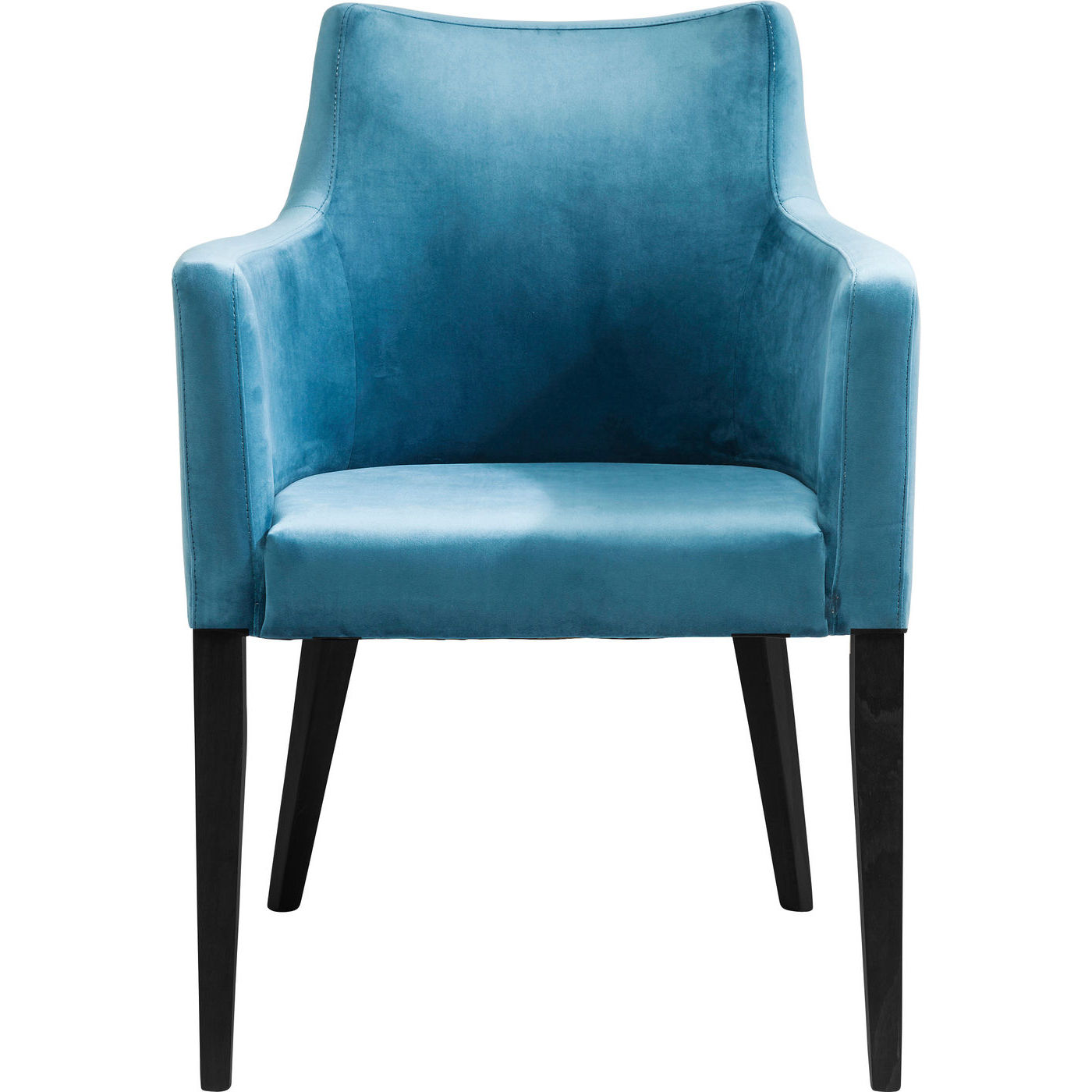 Image of   KARE DESIGN Black Mode Velvet Bluegreen lænestol - blå/grønt stof og bøg, m. armlæn