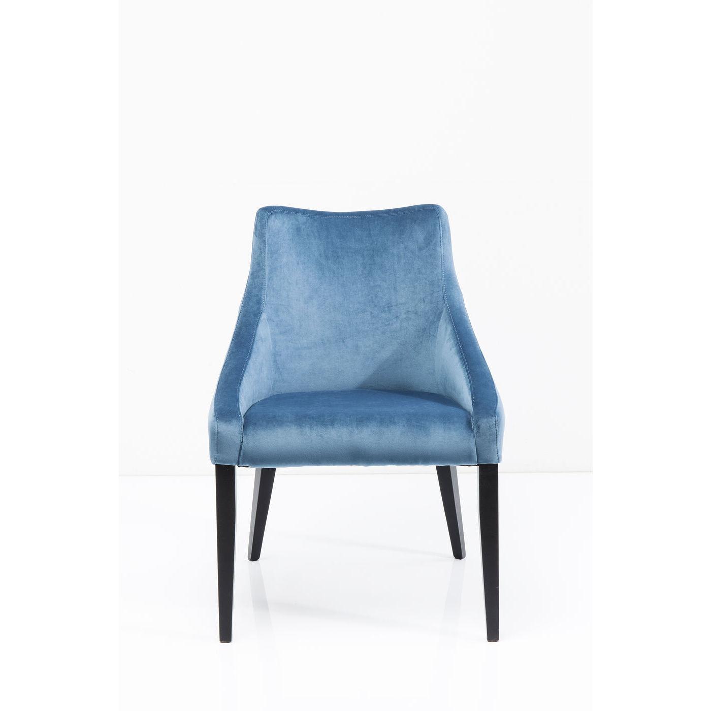 Image of   KARE DESIGN Black Mode Velvet Bluegreen lænestol - blåt/grønt stof/bøg, m. armlæn