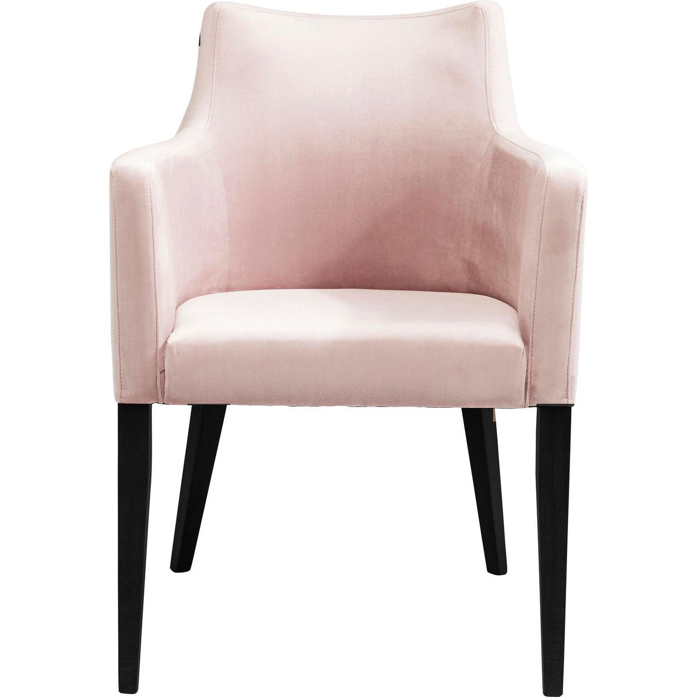 Kare design black mode velvet mauve lænestol - lyserødt stof/bøg, m. armlæn fra kare design på boboonline.dk