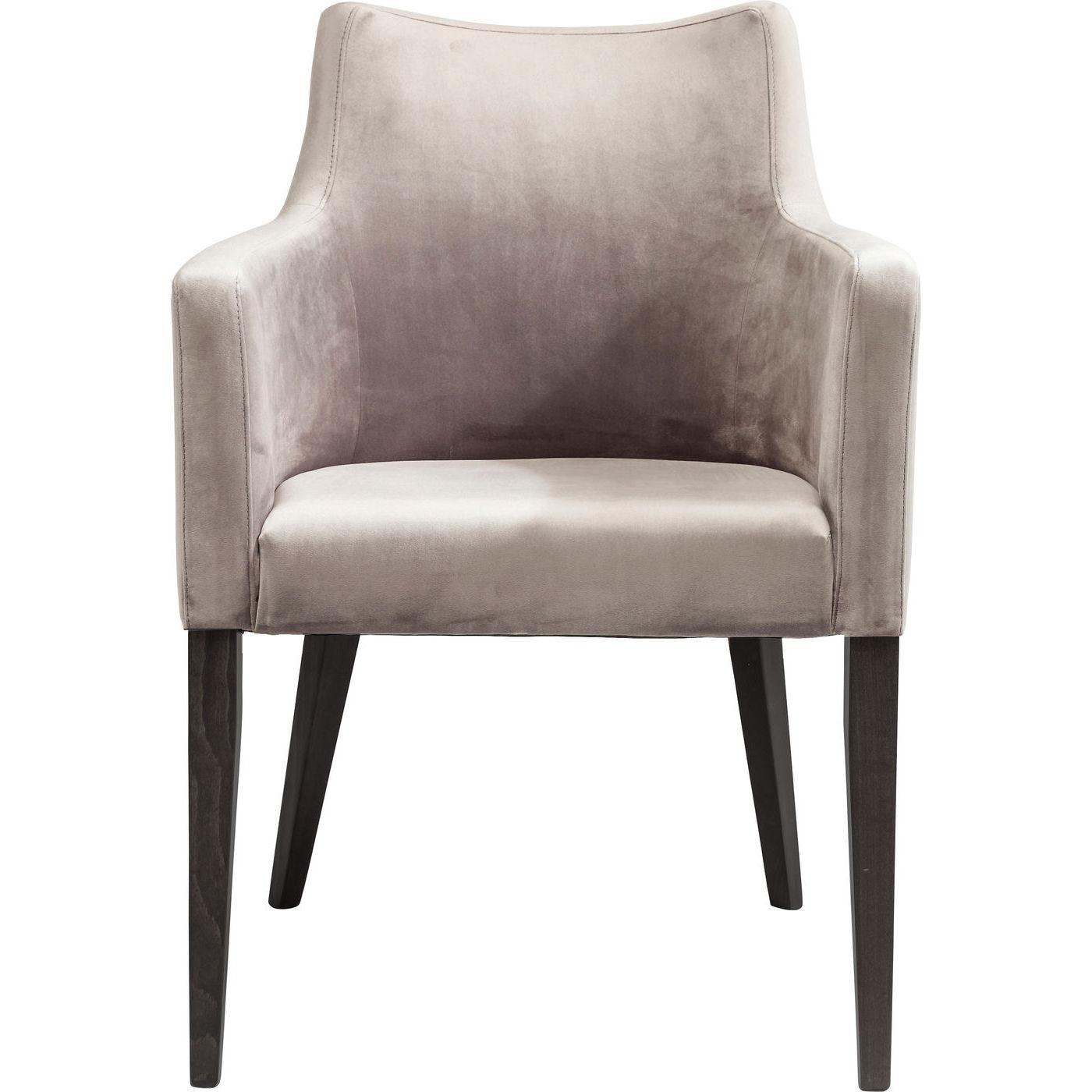 kare design Kare design black mode velvet grey lænestol - gråt stof/bøg, m. armlæn fra boboonline.dk
