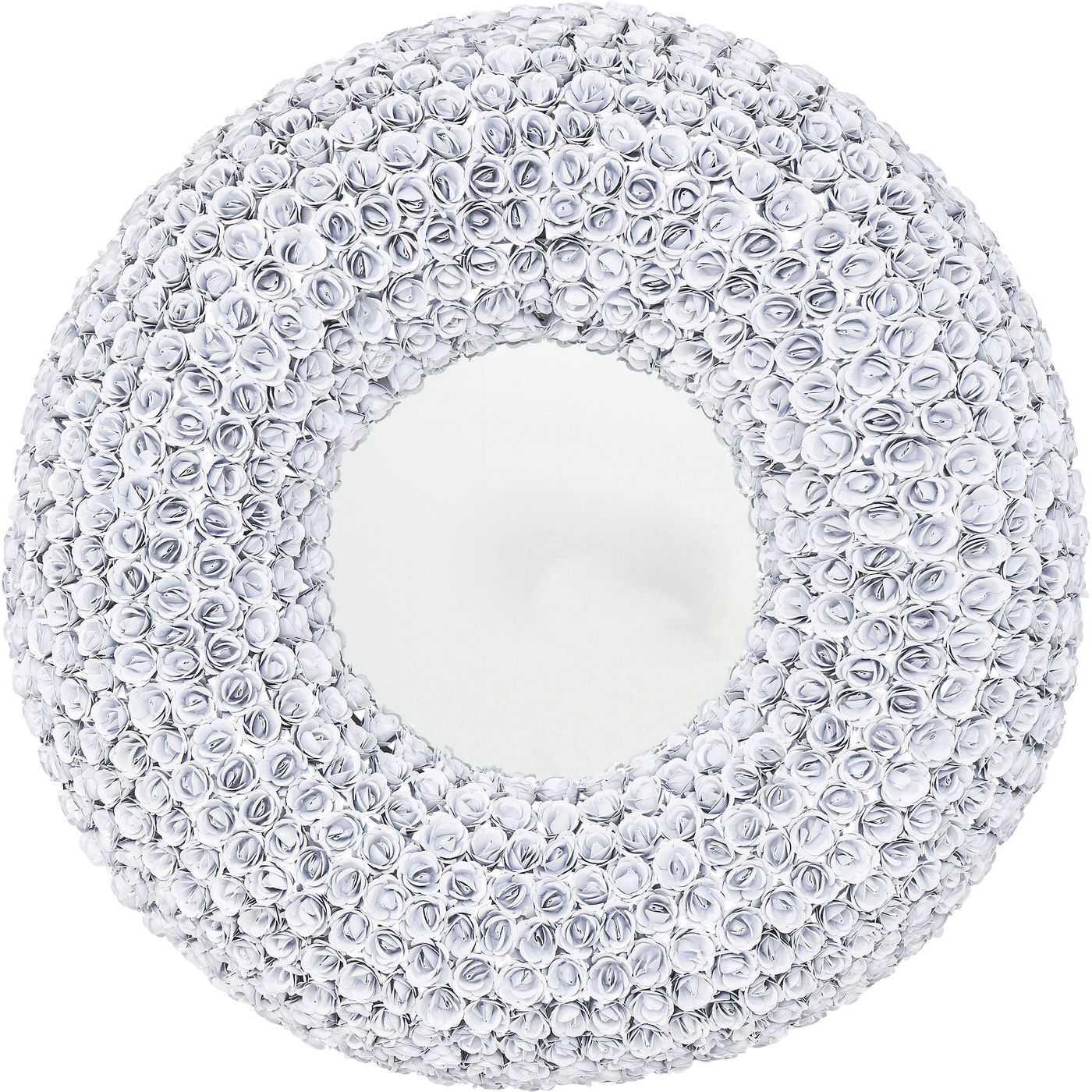 kare design Kare design rose white vægspejl - spejlglas/hvidt stål, rundt (ø100) på boboonline.dk