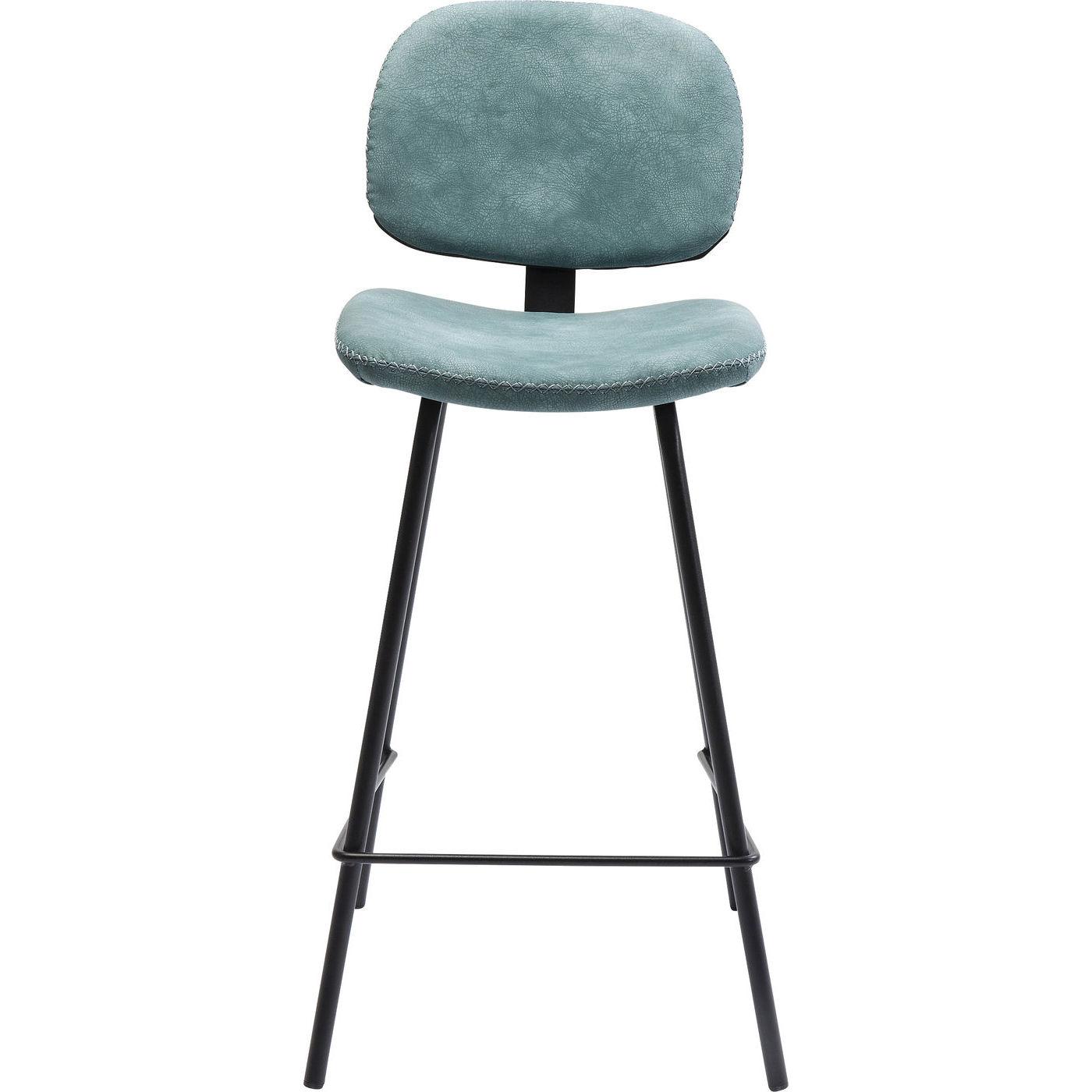 kare design – Kare design barber light blue barstol - lyseblåt læderlook/stålben fra boboonline.dk