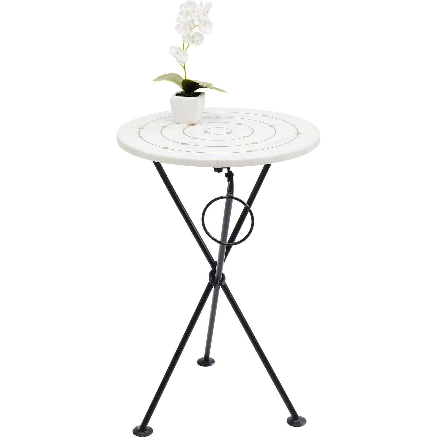 kare design Kare design clack circles sidebord - hvidt marmor/stål, rundt (ø36) fra boboonline.dk