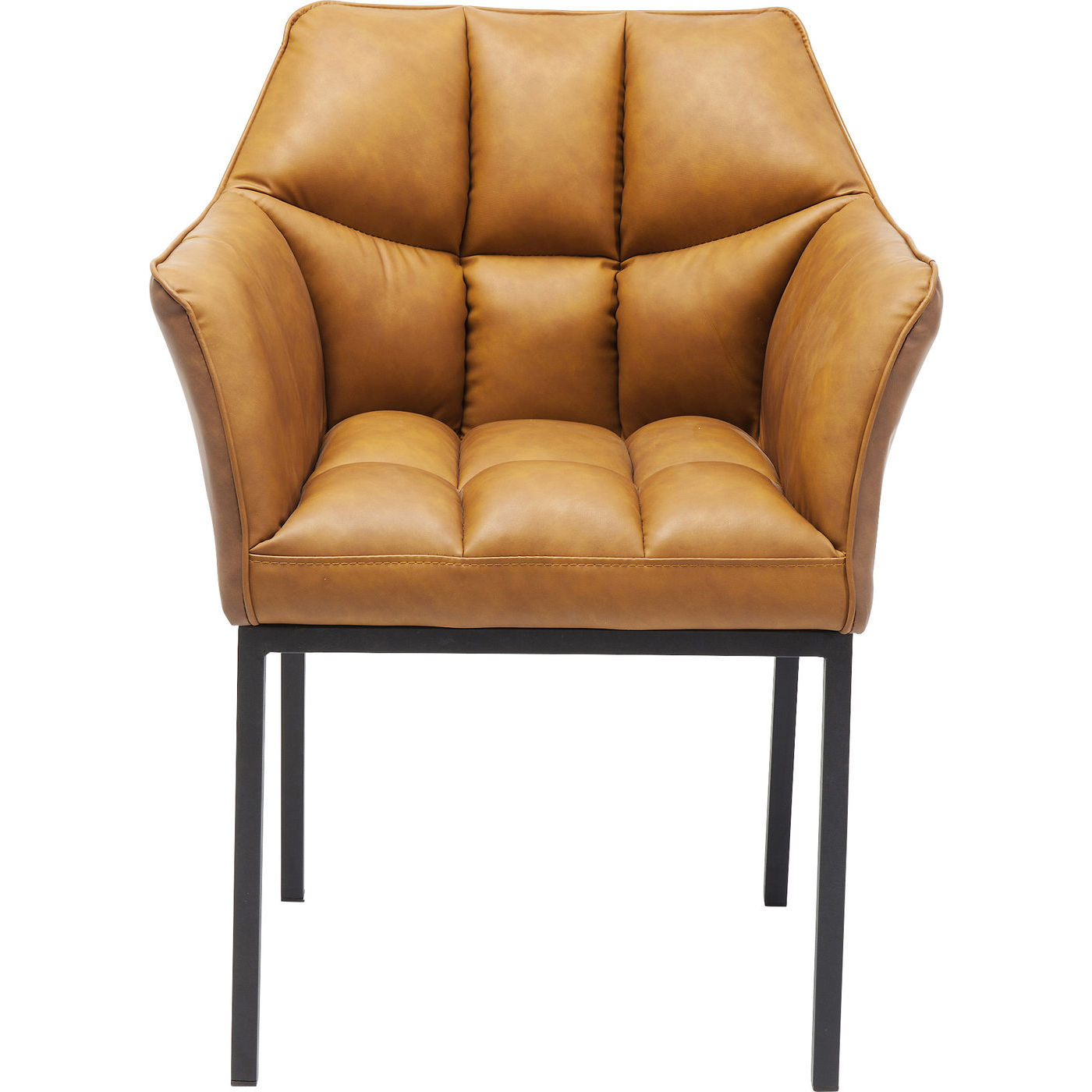 Kare design thinktank brown lænestol - brunt kunstlæder/stål, m. armlæn fra kare design på boboonline.dk
