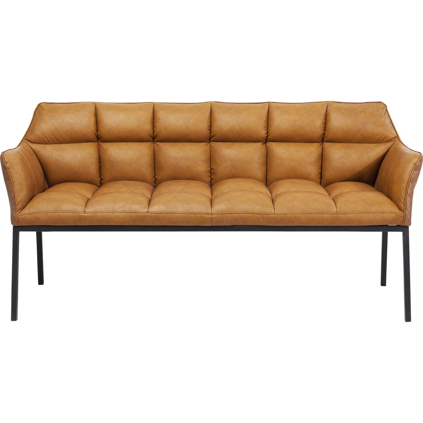 kare design – Kare design thinktank brown sofabænk - brunt kunstlæder/stål, m. armlæn på boboonline.dk