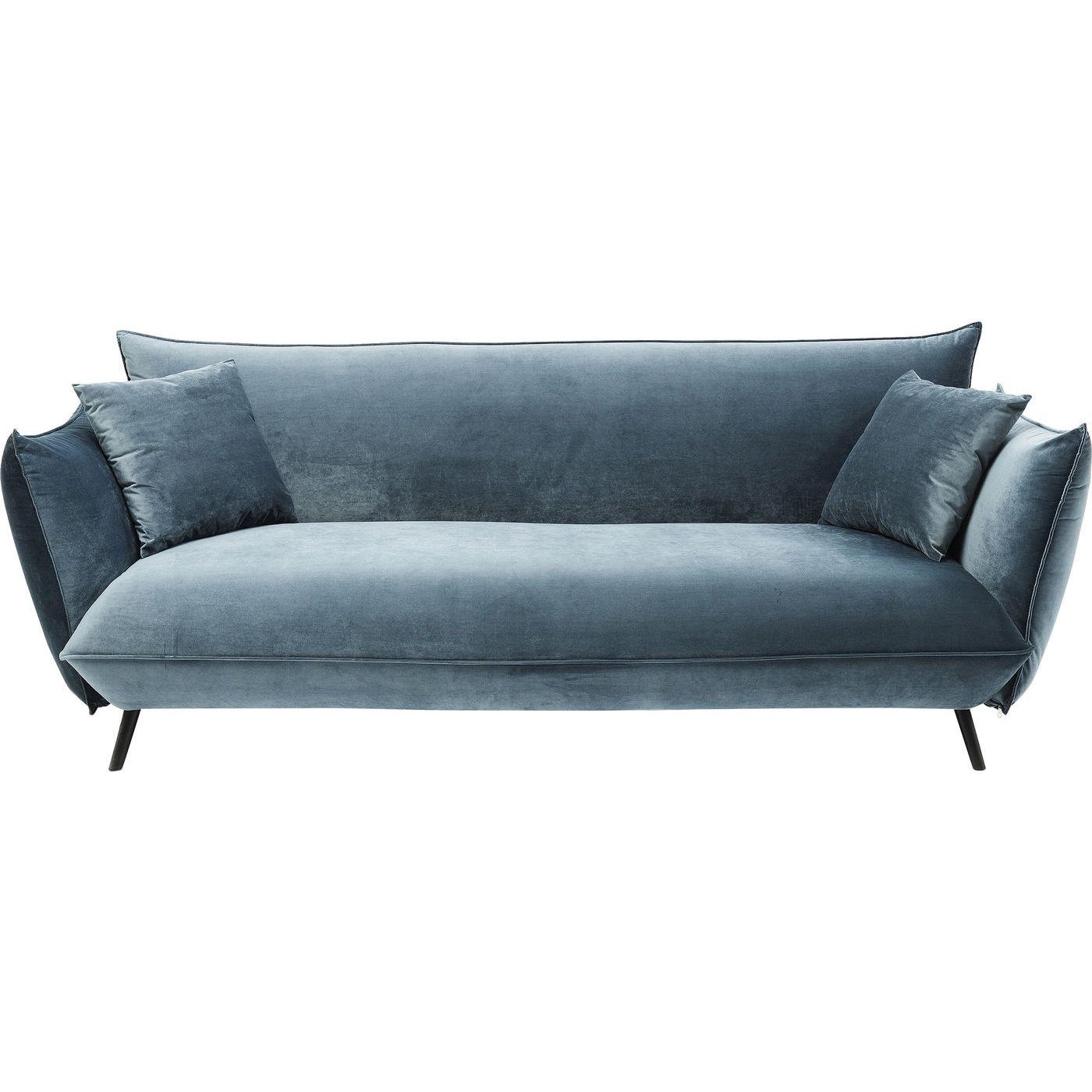 Image of   KARE DESIGN Molly Ocean 3-personers sofa - blåt stof, m. armlæn