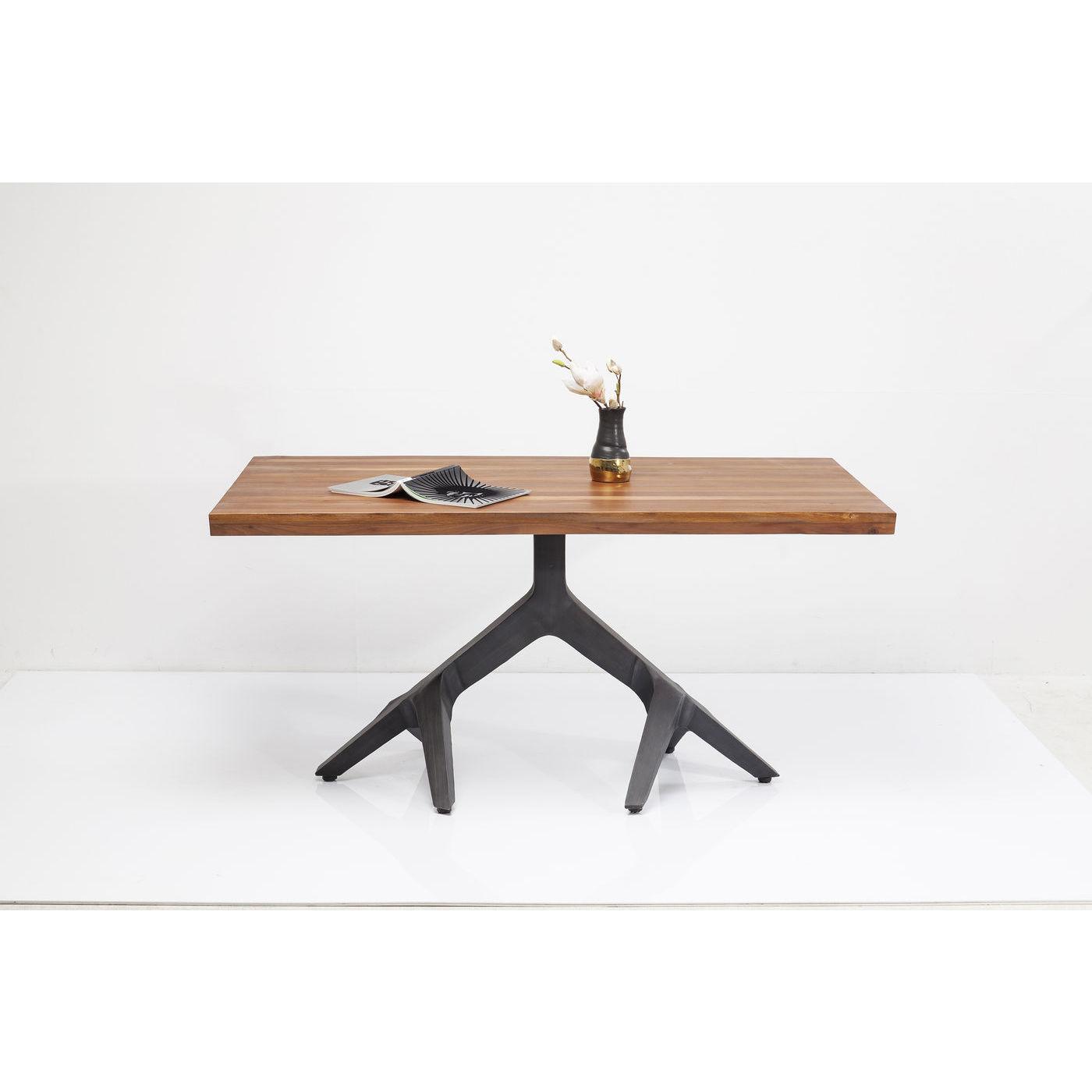KARE DESIGN Roots Dark spisebord - natur akacietræ/stål (180x90)