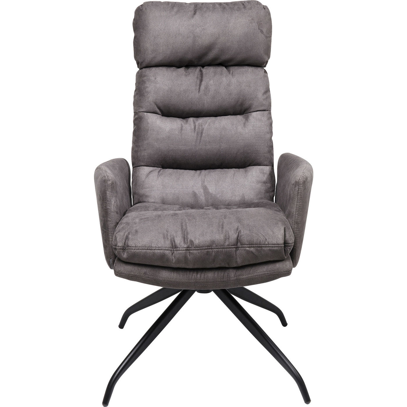 Image of   KARE DESIGN Swivel Chair Dance lænestol - stof og sort stål, m. armlæn