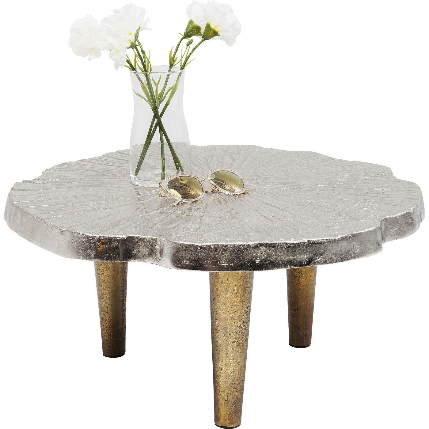 Kare design valley sofabord - sølv/messing aluminium, rundt (ø61) fra kare design fra boboonline.dk