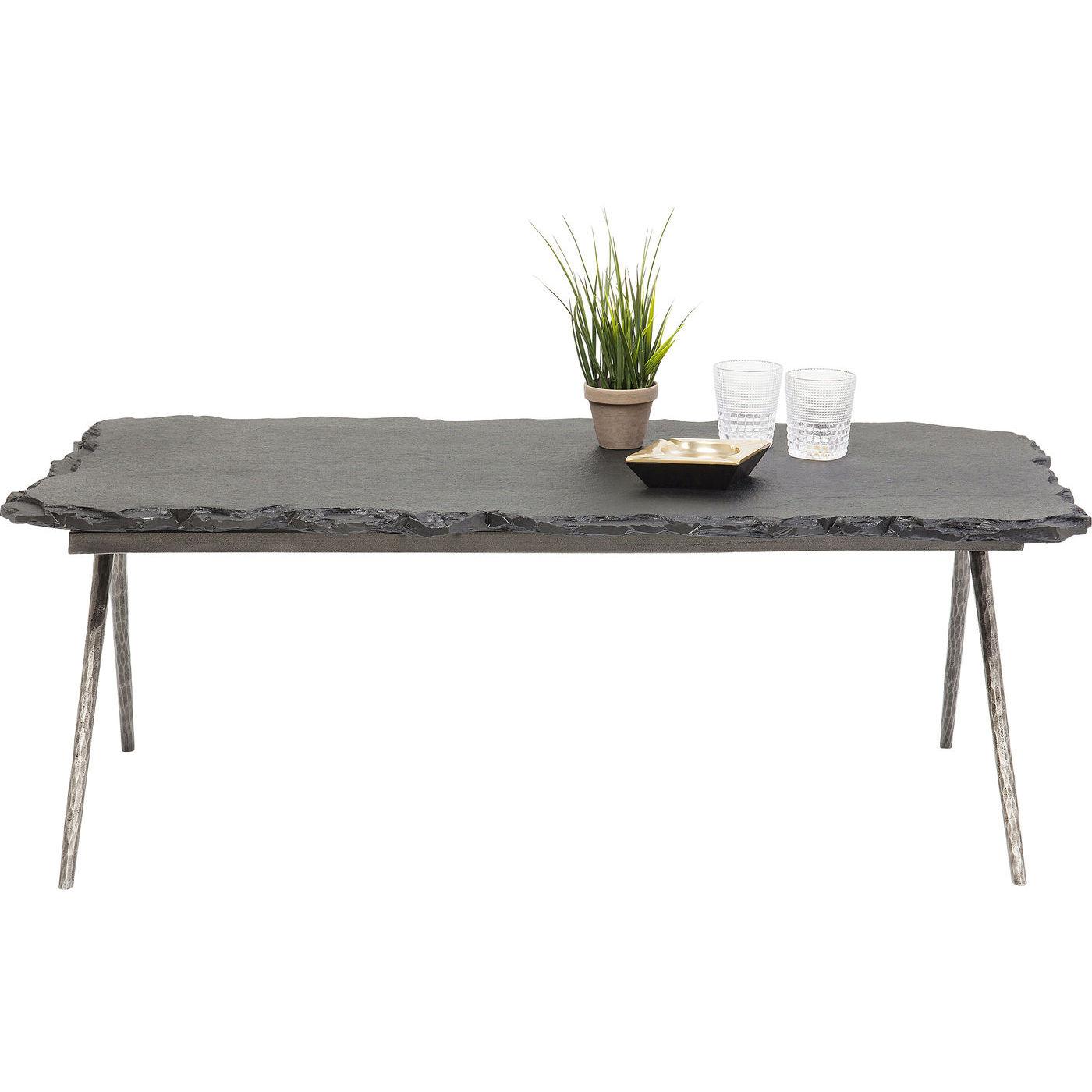 kare design – Kare design pilla stone sofabord - grå/sort sandsten og messing stål (121x61) på boboonline.dk