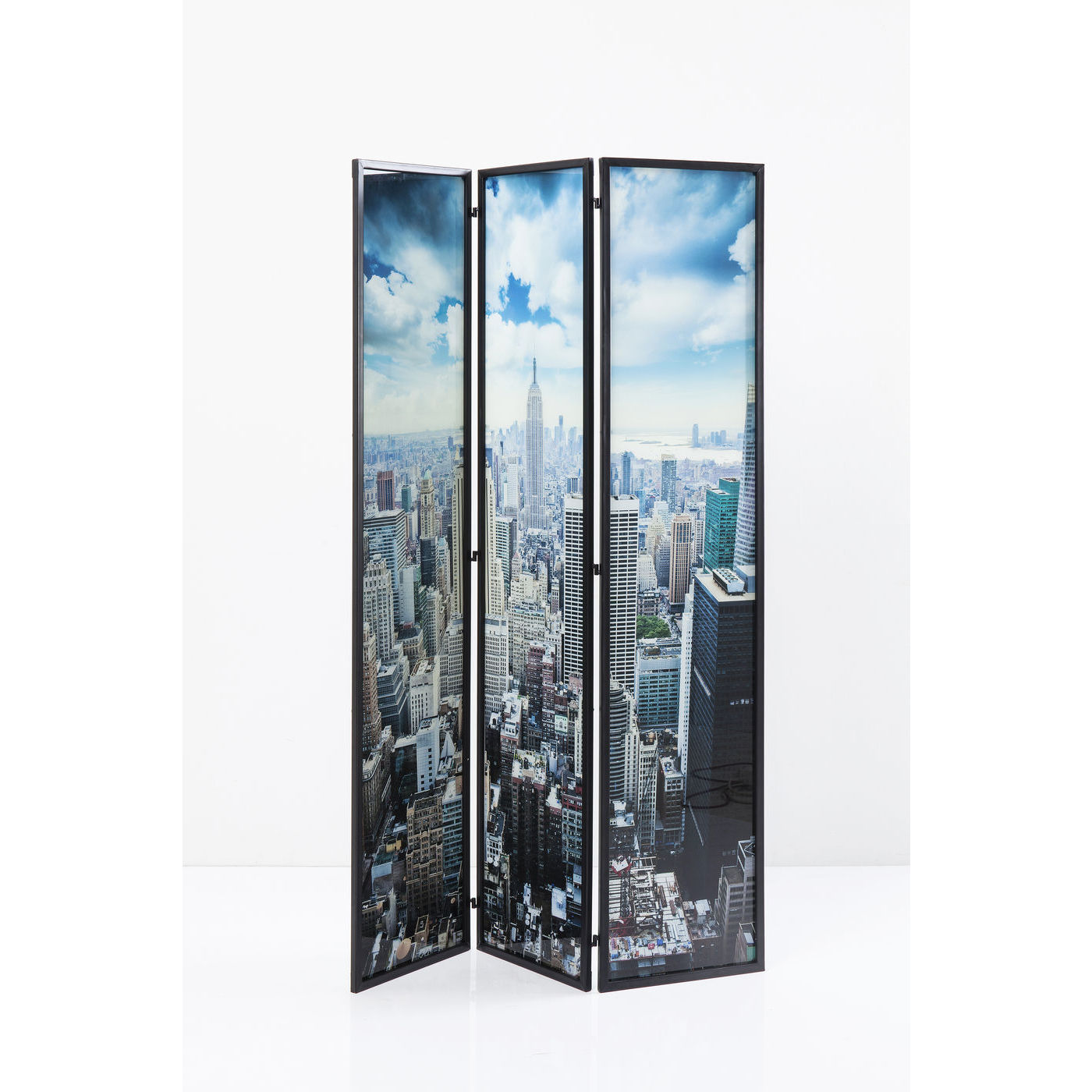 Image of   KARE DESIGN Glass NY Skyline rumdeler - multifarvet lamineret glas og stål