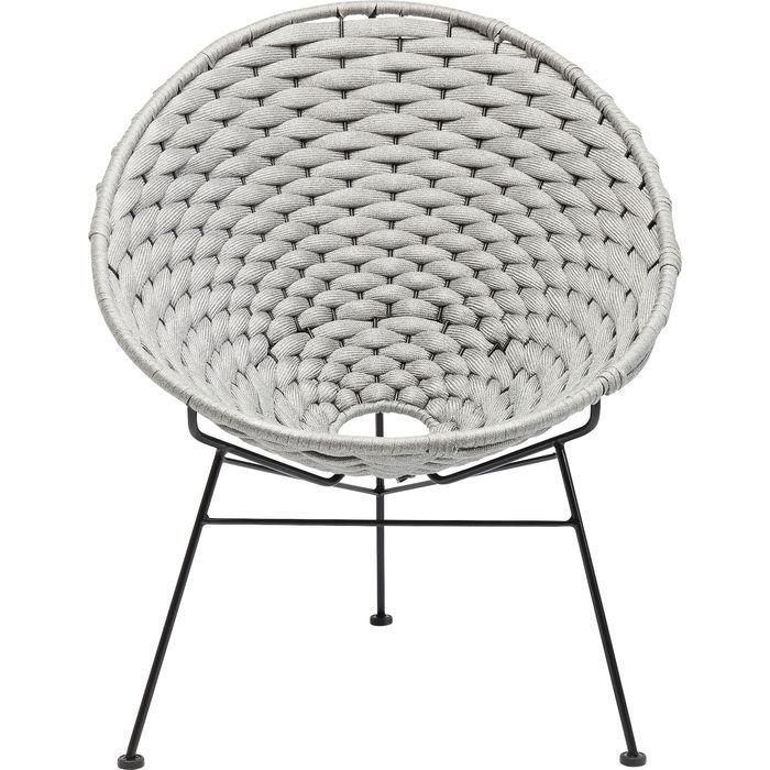 Kare design arriba lænestol - lysegråt stof/stål, m. armlæn fra kare design på boboonline.dk