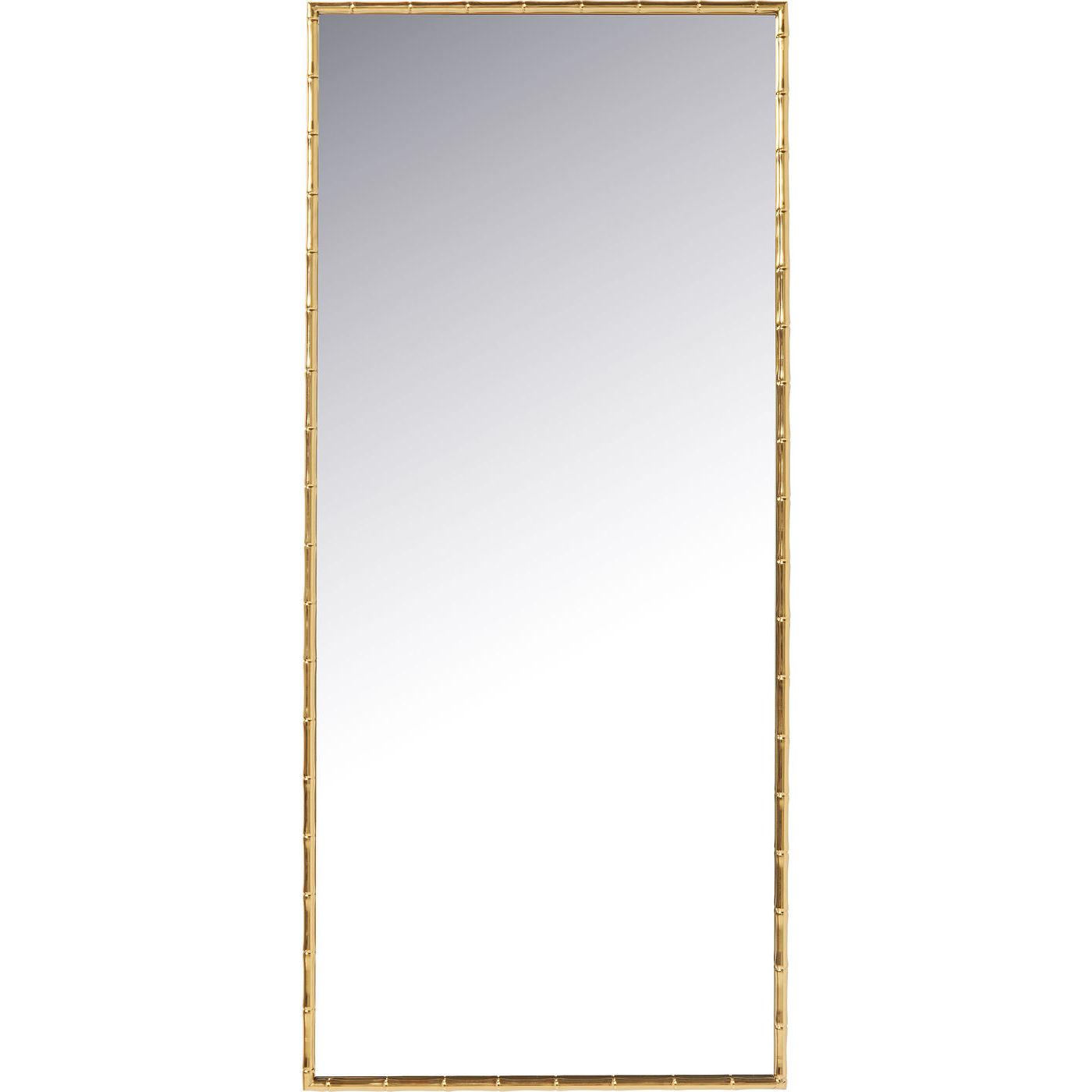 Kare design hipster bamboo vægspejl - spejlglas/messing stål, rektangulær (180x80) fra kare design fra boboonline.dk