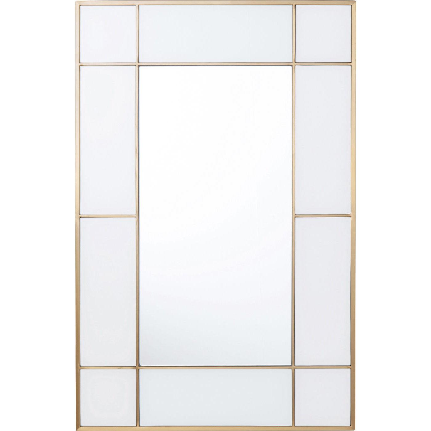 kare design – Kare design cracioso vægspejl - spejlglas/farvet glas/messing stål (90x60) fra boboonline.dk