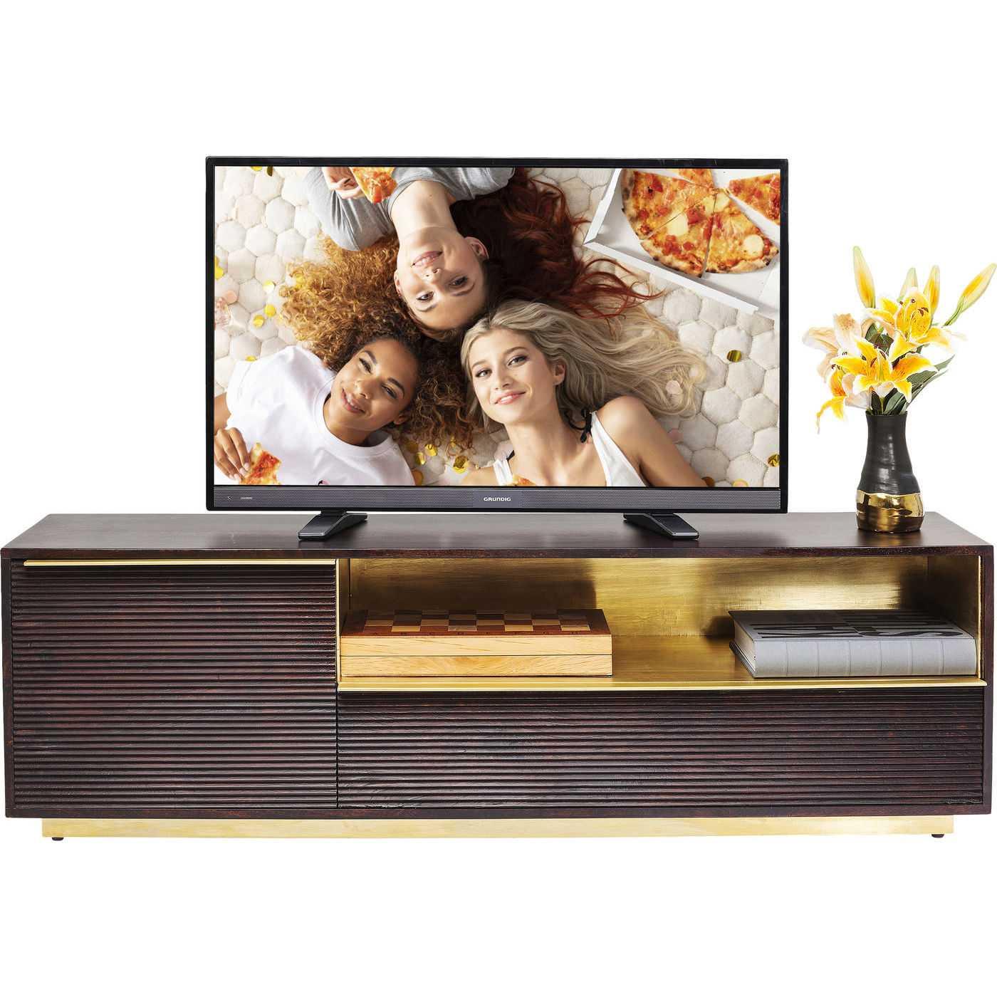 kare design Kare design casino lounge tv-bord - brunt/guld mangotræ, m. 2 låger på boboonline.dk