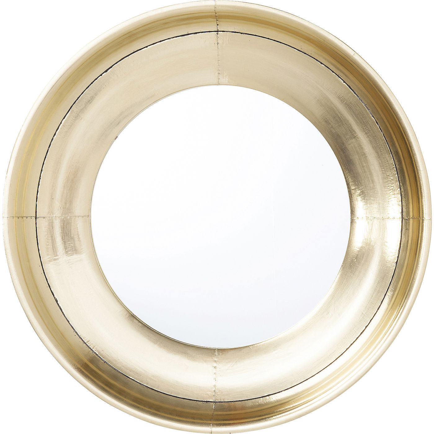 Kare design crudo vægspejl - spejlglas/messing, rundt (ø80) fra kare design fra boboonline.dk