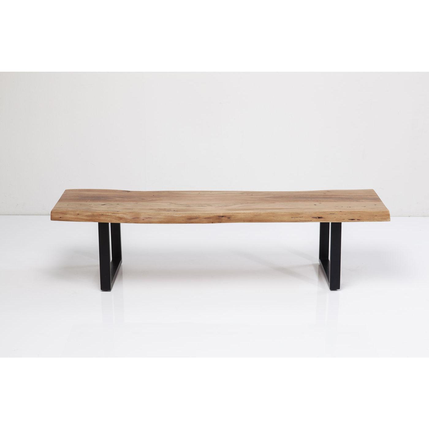 Kare design black nature bænk - natur akacietræ/sort stål, unik (160x45) fra kare design fra boboonline.dk