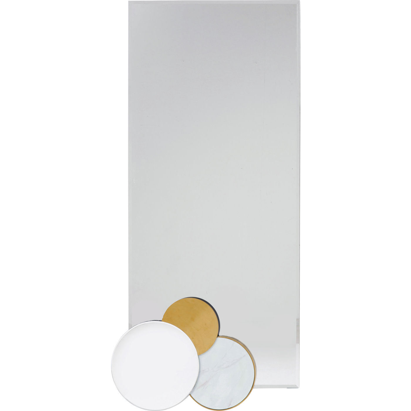 Kare design miami loft circles vægspejl - spejlglas/messing stål (180x45) fra kare design fra boboonline.dk
