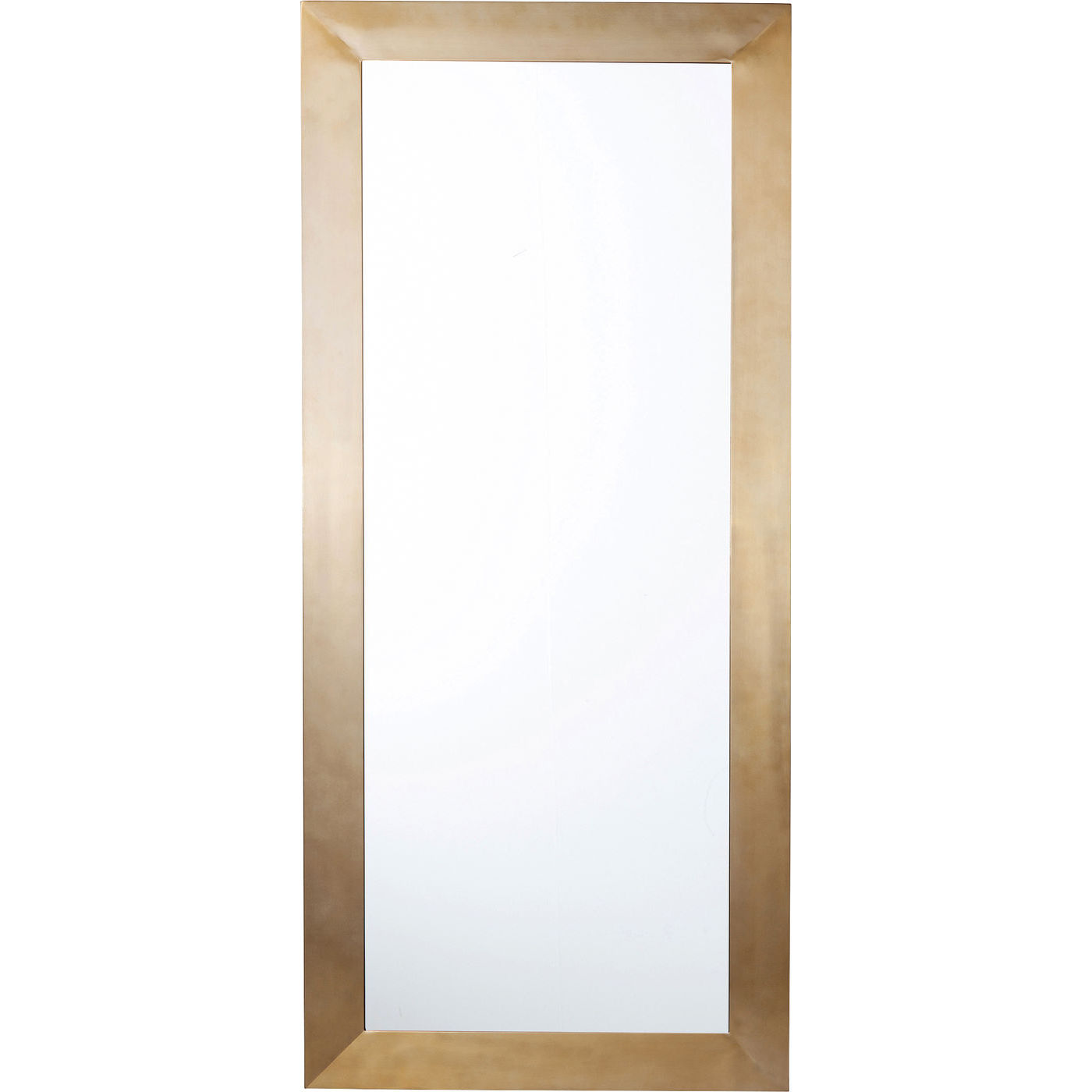 KARE DESIGN Thunder vægspejl - spejlglas/messing stål, rektangulær (180x80)