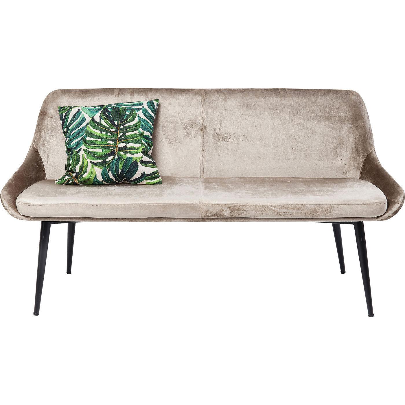 Kare design east side sofabænk - beige stof og sort stål, m. ryglæn fra kare design fra boboonline.dk