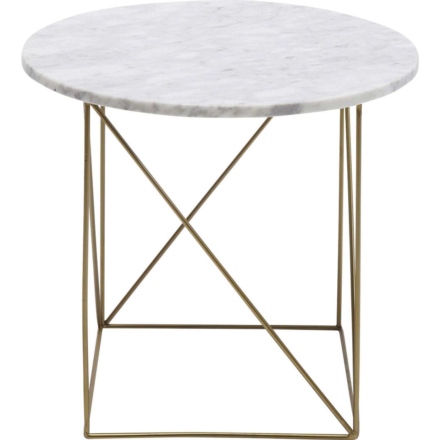 kare design Kare design key largo white sidebord - hvidt marmor/guld stål, rundt (ø40) fra boboonline.dk