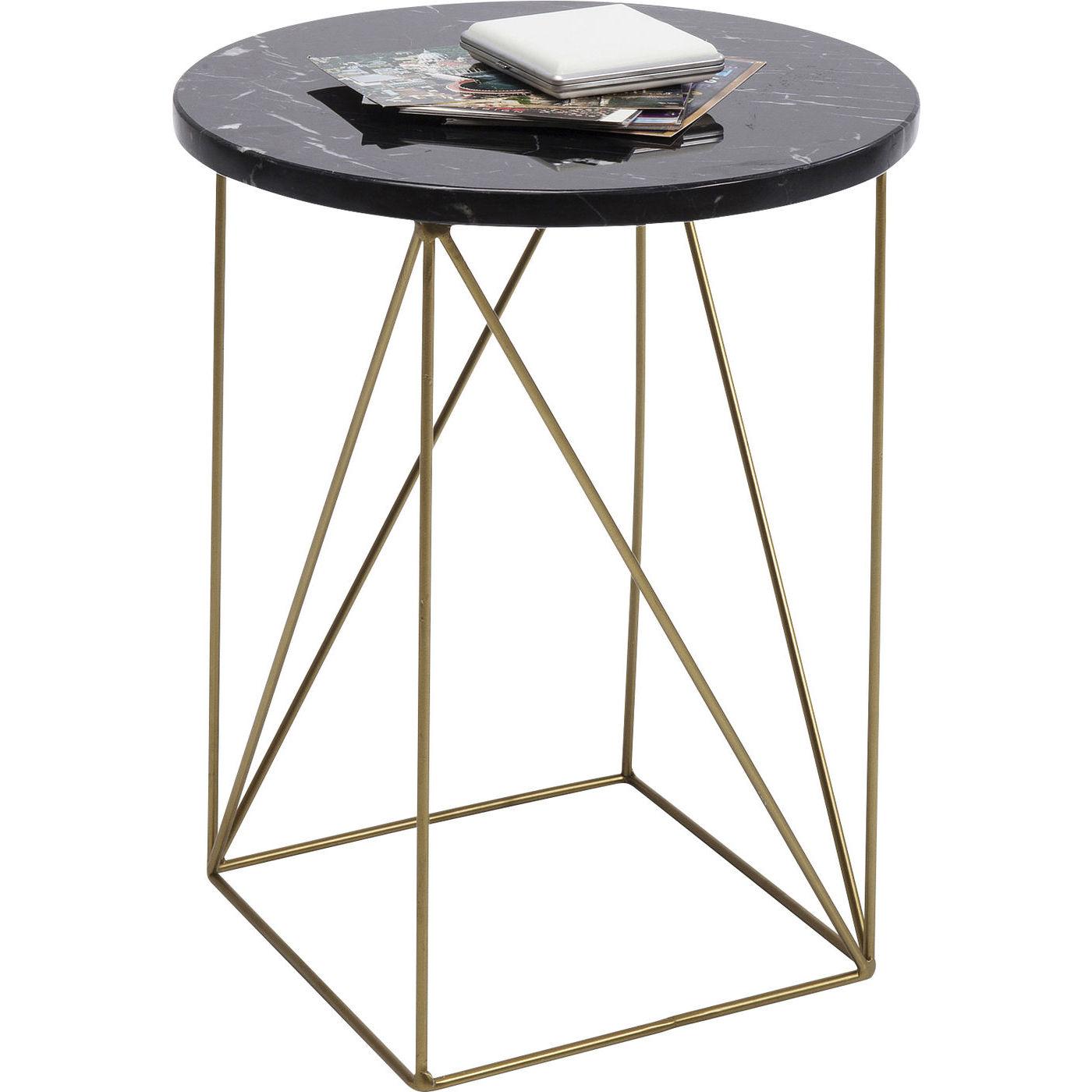 kare design – Kare design key largo black sidebord - sort marmor/guld stål, rundt (ø35) på boboonline.dk