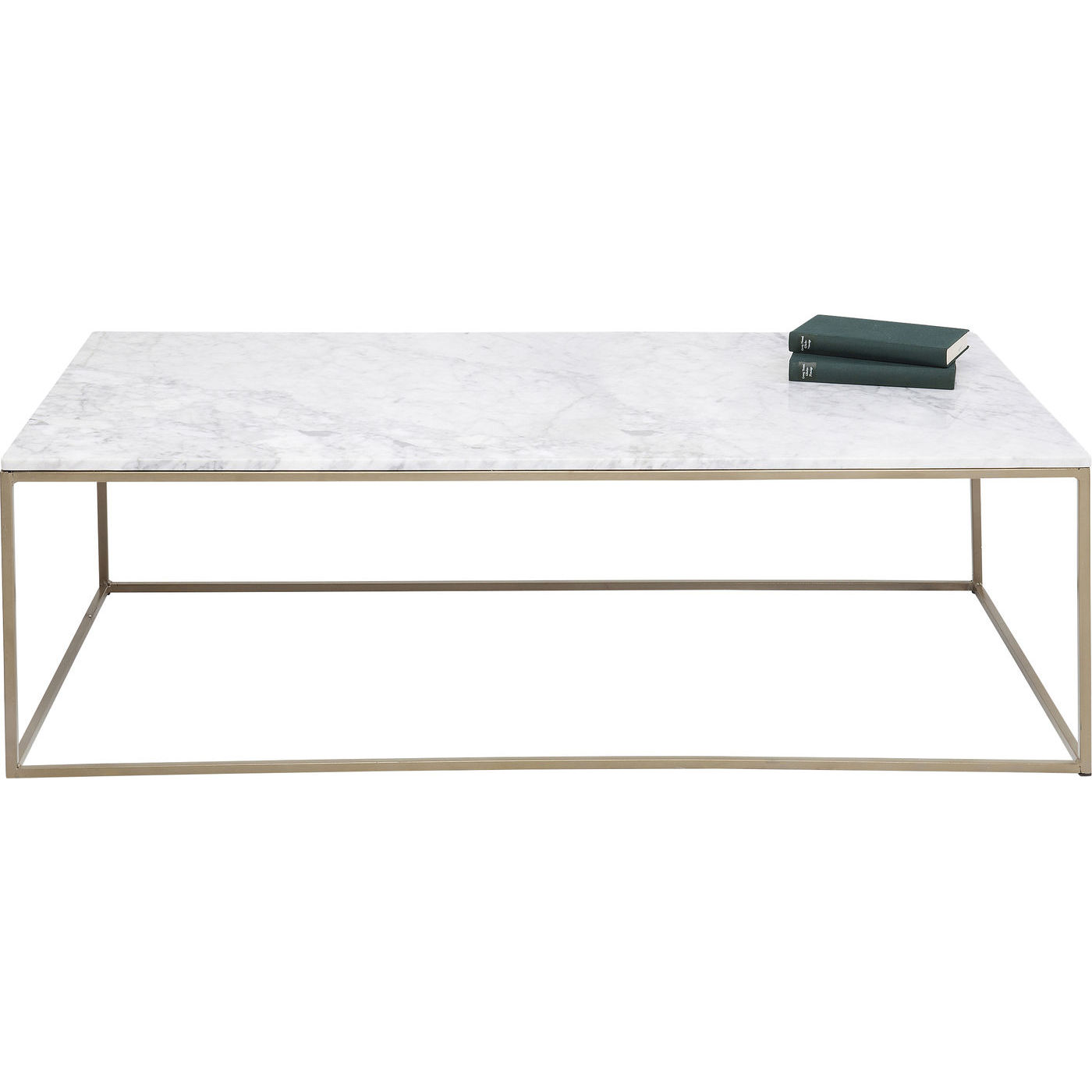 Kare design key west marble sofabord - hvidt marmor/guld stål (120x60) fra kare design på boboonline.dk