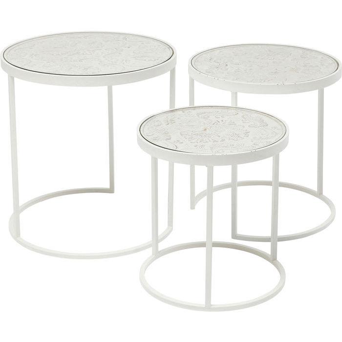 Kare design sweet home sidebord - hvidt gran/stål, rundt (3/sæt) fra kare design fra boboonline.dk