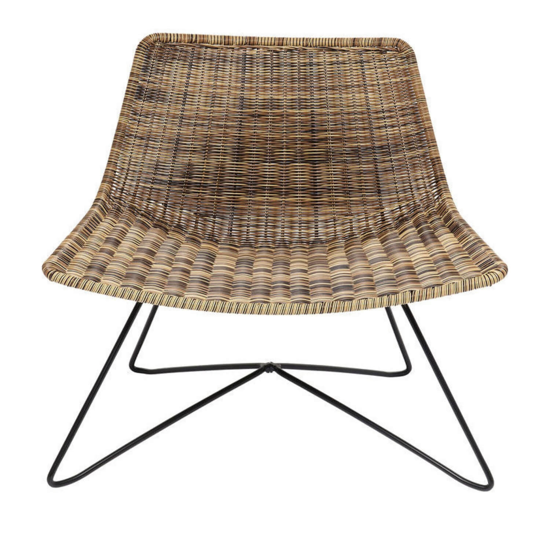 kare design kare design sansibar loungestol - natur plastik og stål