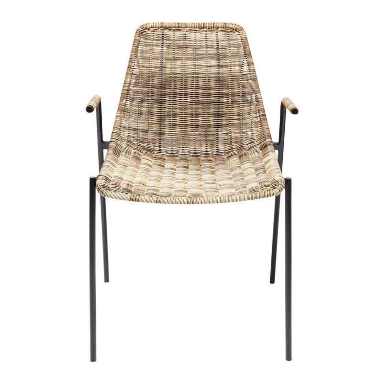 Kare design tansania spisebordsstol - natur plastik/stål, m. armlæn fra kare design fra boboonline.dk