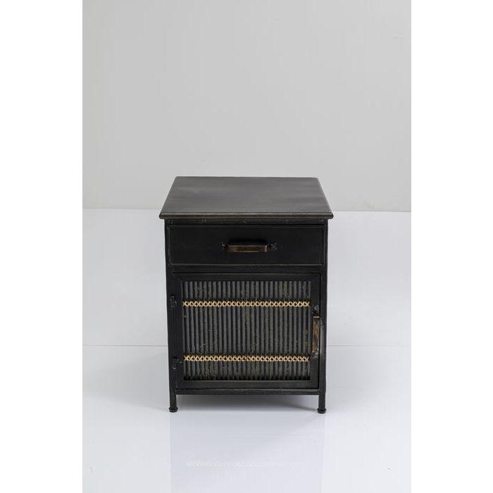 kare design – Kare design bamboo kommode - natur/sort rattan/stål, m. 1 låge og 1 hylde fra boboonline.dk