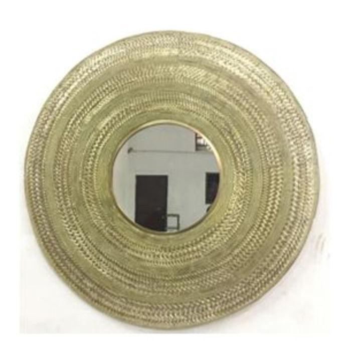 kare design – Kare design treccia vægspejl - spejlglas og stål, rund (ø102) på boboonline.dk