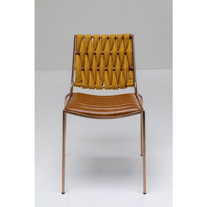 kare design – Kare design two face spisebordsstol - lysebrun polyester/pu og stål fra boboonline.dk