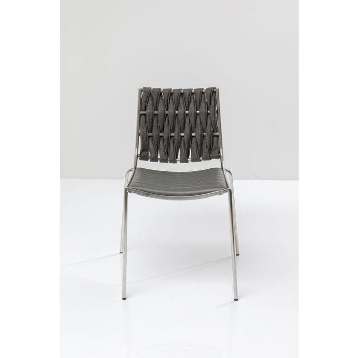 kare design – Kare design two face spisebordsstol - mørkegrå polyester/pu og stål på boboonline.dk
