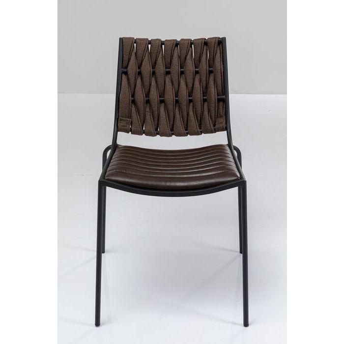 kare design – Kare design two face spisebordsstol - mørkebrun polyester/pu og stål fra boboonline.dk