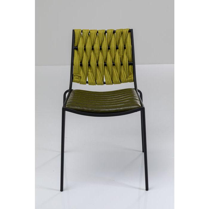 kare design Kare design two face spisebordsstol - grøn polyester/pu og stål på boboonline.dk