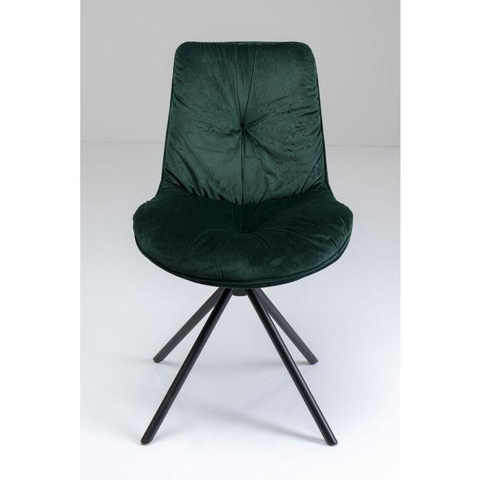 Kare design mila spisebordsstol - grøn polyester og stål fra kare design fra boboonline.dk