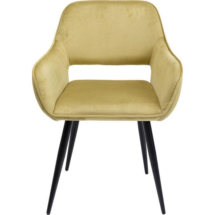 kare design Kare design san francisco spisebordsstol - lysegrøn polyester og stål, m. armlæn på boboonline.dk