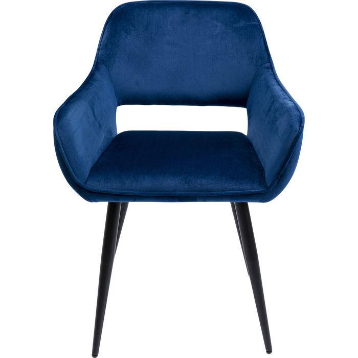 Kare design san francisco spisebordsstol - blå polyester og stål, m. armlæn fra kare design på boboonline.dk