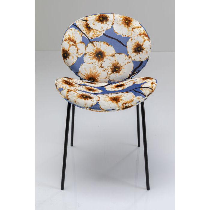 kare design – Kare design blowball spisebordsstol - multifarvet/sort stof/stål fra boboonline.dk