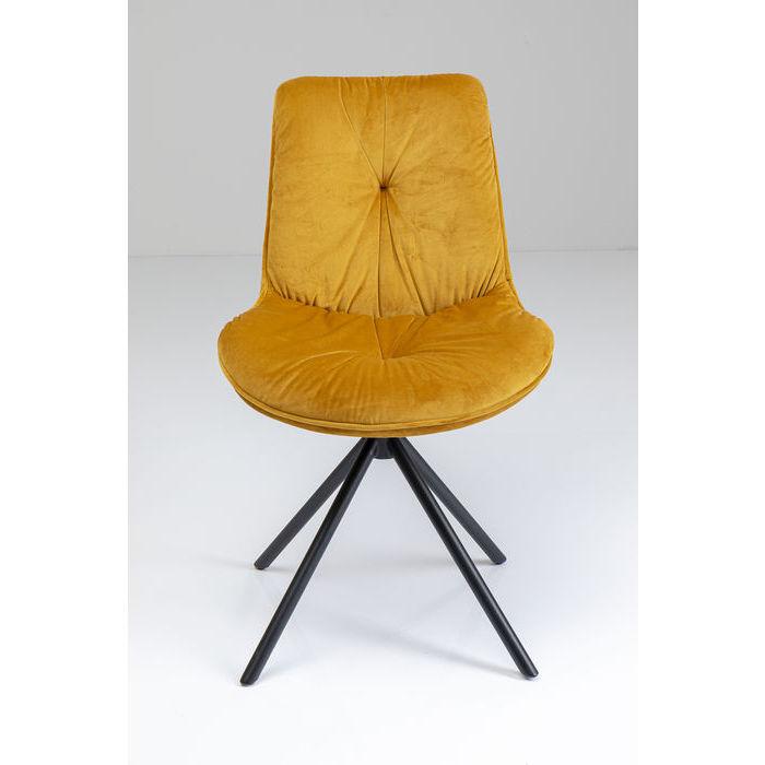 kare design Kare design mila spisebordsstol - gul polyester og stål på boboonline.dk