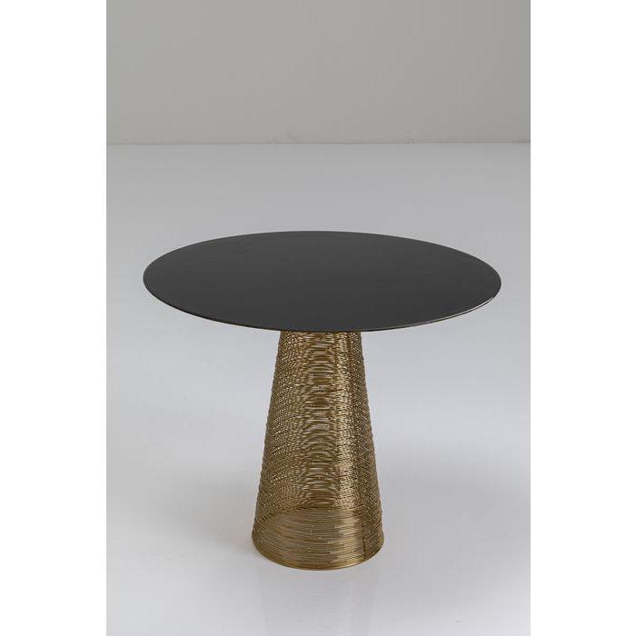kare design Kare design charme sidebord - messing/sort stål/emalje, håndlavet, rund (ø50) på boboonline.dk